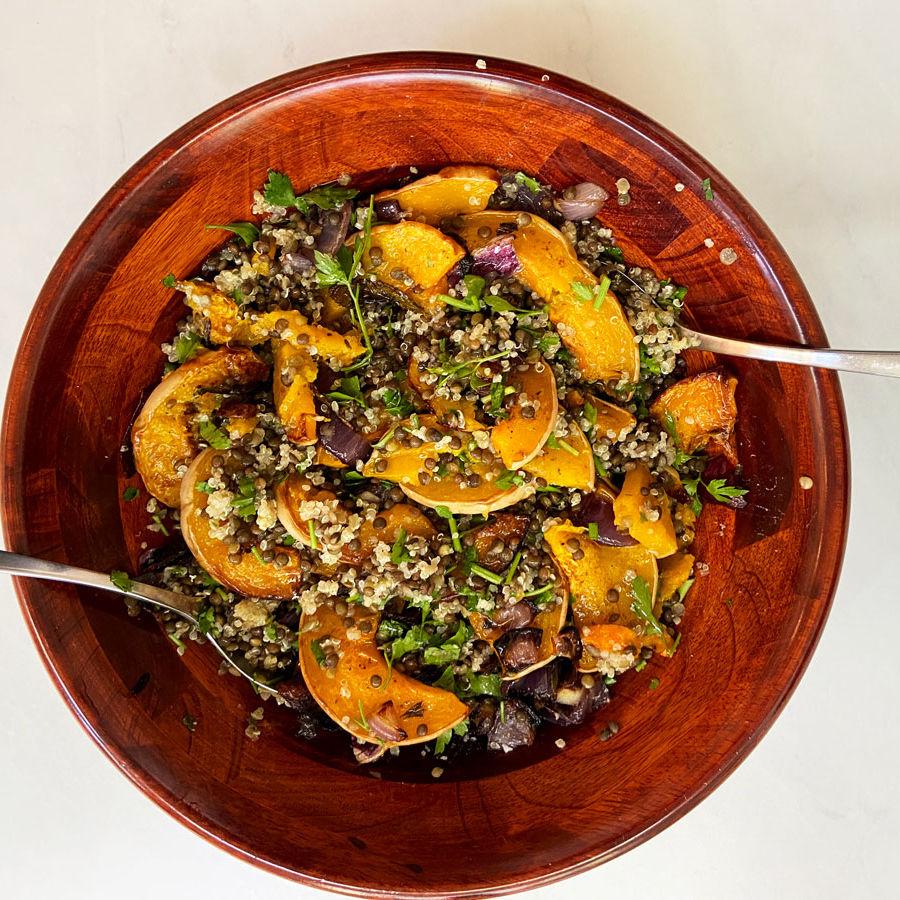 Super-Salad-of-Butternut-Squash,-Quinoa-and-Lentils-1